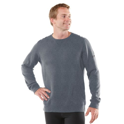 Mens R-Gear Easy Does It Long Sleeve No Zip Technical Tops - Heather Charcoal L ...