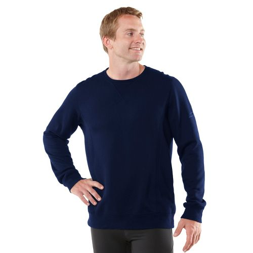 Mens R-Gear Easy Does It Long Sleeve No Zip Technical Tops - Heather Midnight Blue ...