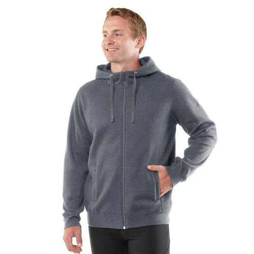 Mens R-Gear All Squared Up Hoodie Warm-Up Hooded Jackets - Heather Charcoal M