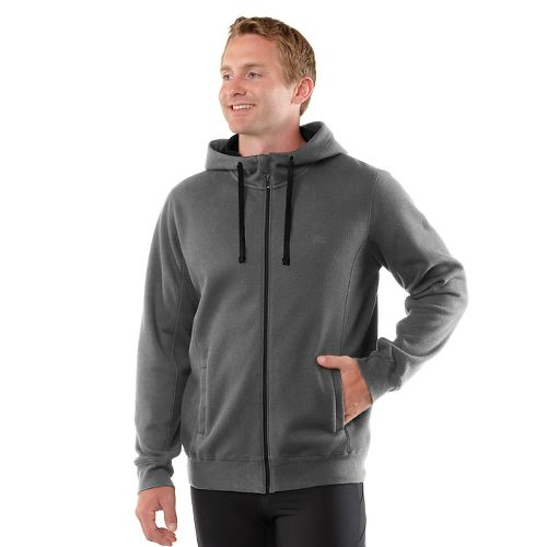Mens R-Gear All Squared Up Hoodie Warm-Up Hooded Jackets - Heather Charcoal/Cobalt XXL