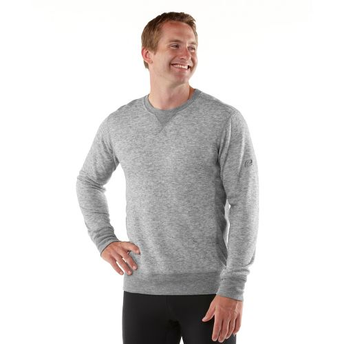 Mens R-Gear Second Nature Wool Long Sleeve No Zip Technical Tops - Heather Charcoal L ...