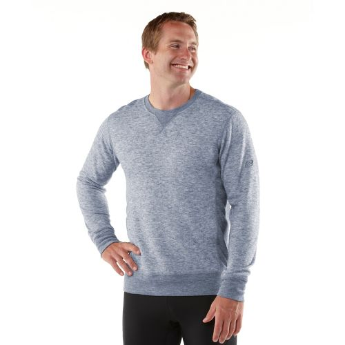 Mens R-Gear Second Nature Wool Long Sleeve No Zip Technical Tops - Heather Midnight Blue ...