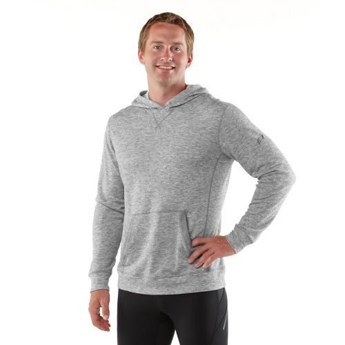 Mens R-Gear Second Nature Wool Hoodie Long Sleeve No Zip Technical Tops - Heather Charcoal ...