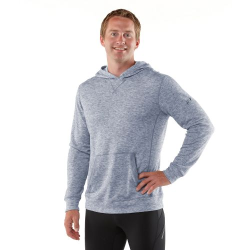 Mens R-Gear Second Nature Wool Hoodie Long Sleeve No Zip Technical Tops - Heather Midnight Blue M