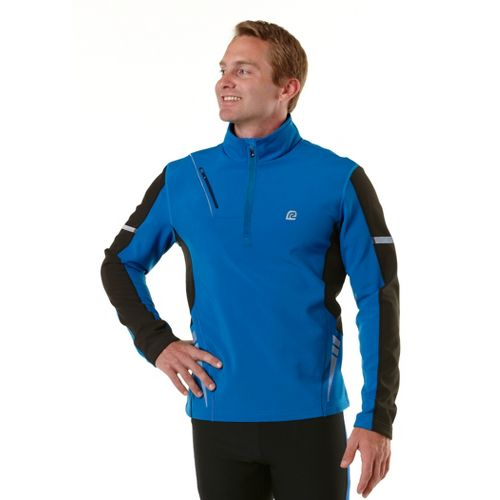 Mens R-Gear Night Watch Long Sleeve 1/2 Zip Technical Tops - Electric Blue/Black XL