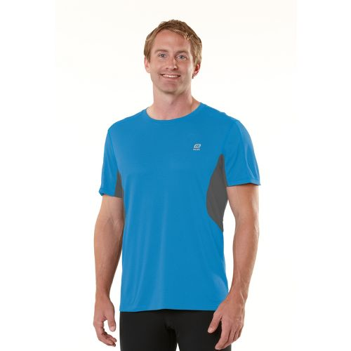 Mens ROAD RUNNER SPORTS Cool It Short Sleeve Technical Tops - Blue Tropic/Steel L