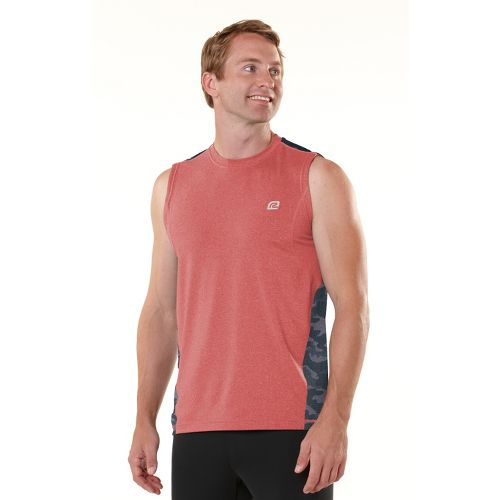 Mens ROAD RUNNER SPORTS Switch It Up Sleeveless Technical Tops - Blazing Red L