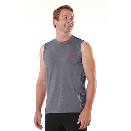 Mens ROAD RUNNER SPORTS Switch It Up Sleeveless Technical Tops - Heather Charcoal S
