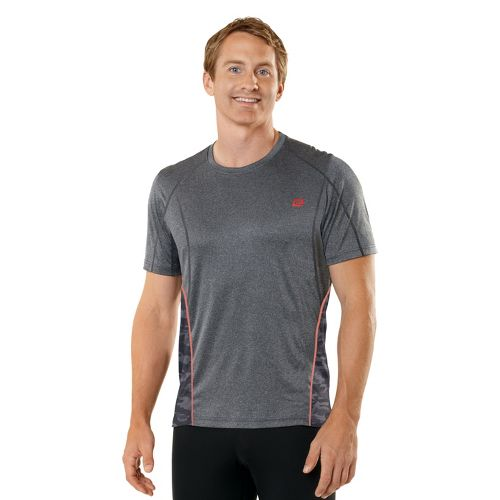 Mens R-Gear Switch It Up Short Sleeve Technical Tops - Heather Charcoal XL