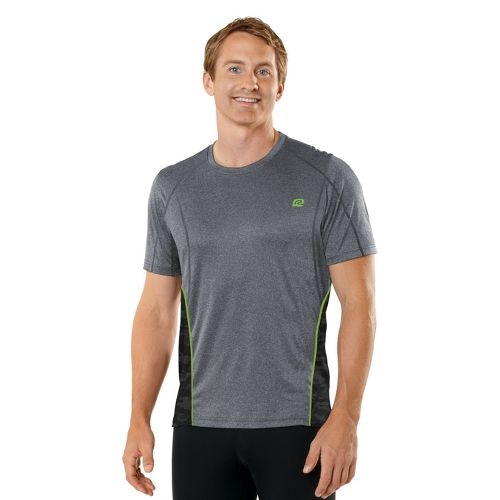 Mens R-Gear Switch It Up Short Sleeve Technical Tops - Heather Charcoal/Grass Green XL