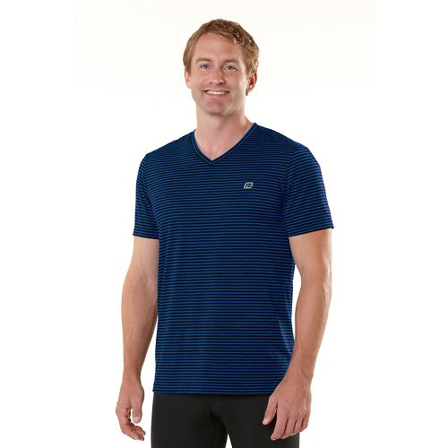 Mens R-Gear Draw the Line Short Sleeve Technical Tops - Black/Cobalt L