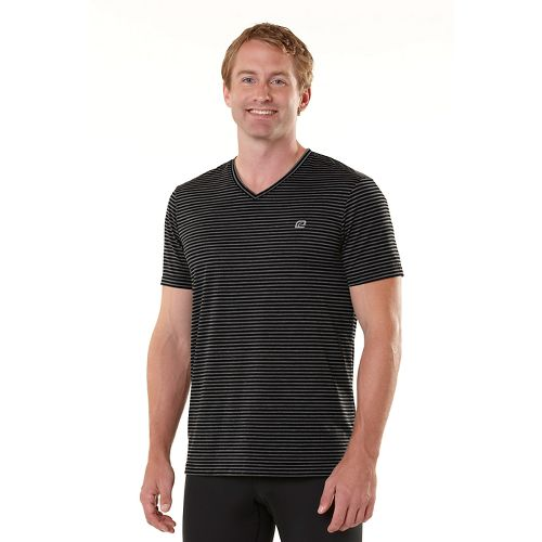 Mens R-Gear Draw the Line Short Sleeve Technical Tops - Heather Charcoal/Black XL