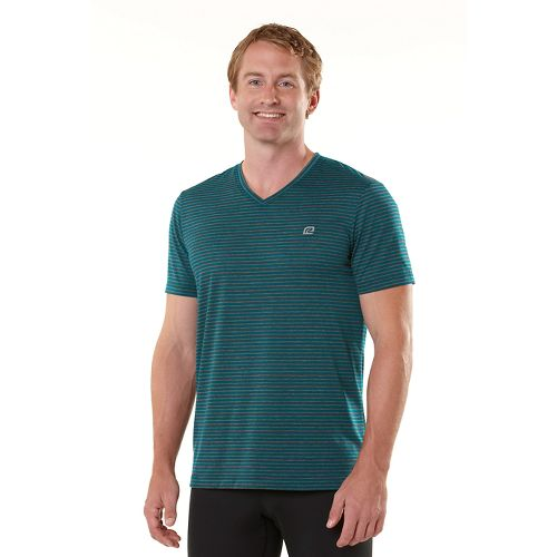 Mens R-Gear Draw the Line Short Sleeve Technical Tops - Heather Charcoal/Deep Teal XXL