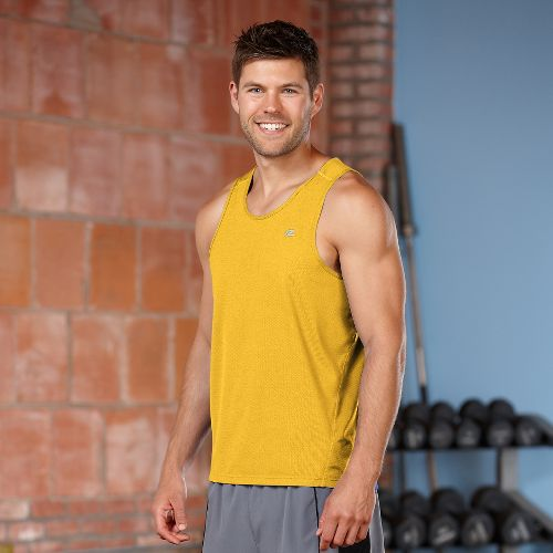 Mens R-Gear Runner's High Singlet Tanks Technical Top - Varsity Gold XL