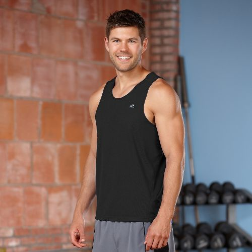 Mens R-Gear Runner's High Singlet Tanks Technical Top - Black S