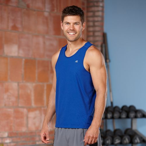 Mens R-Gear Runner's High Singlet Tanks Technical Top - Cobalt L