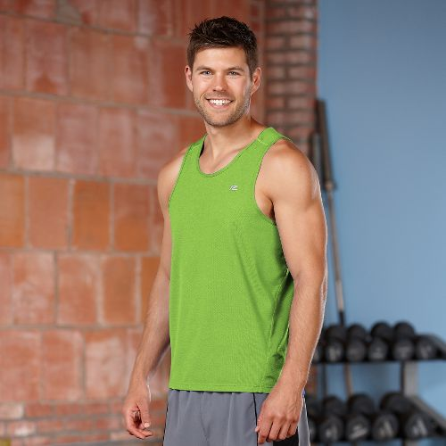 Mens Road Runner Sports Runner's High Singlet Tanks Technical Tops - Grass Green XXL