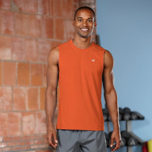Mens R-Gear Runner's High Sleeveless & Tank Technical Tops - Amber S