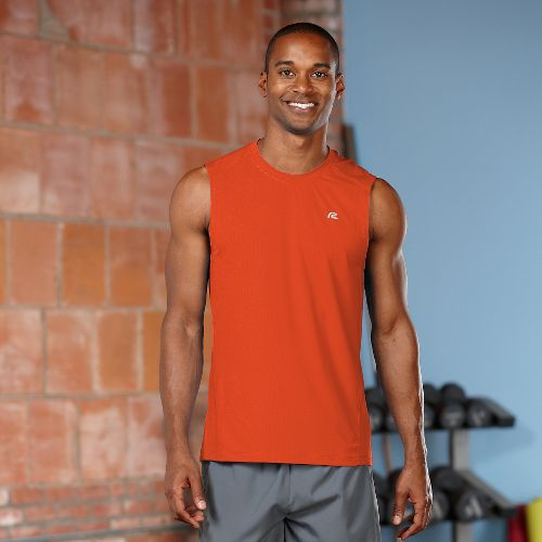 Mens R-Gear Runner's High Sleeveless Tanks Technical Top - Flame S