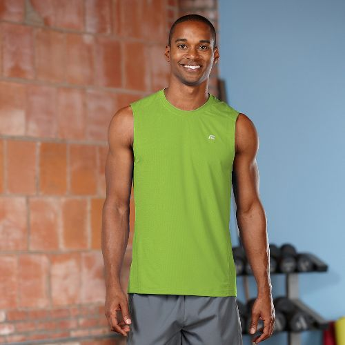 Mens R-Gear Runner's High Sleeveless Tanks Technical Top - Grass Green M