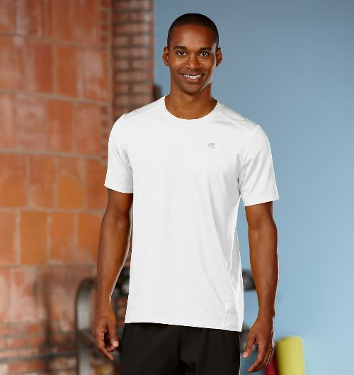 Mens R-Gear Runner's High Short Sleeve Technical Top - White XXL