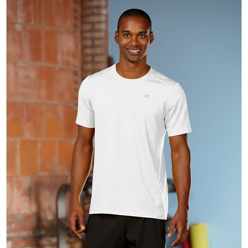 Mens R-Gear Runner's High Short Sleeve Technical Top - White M