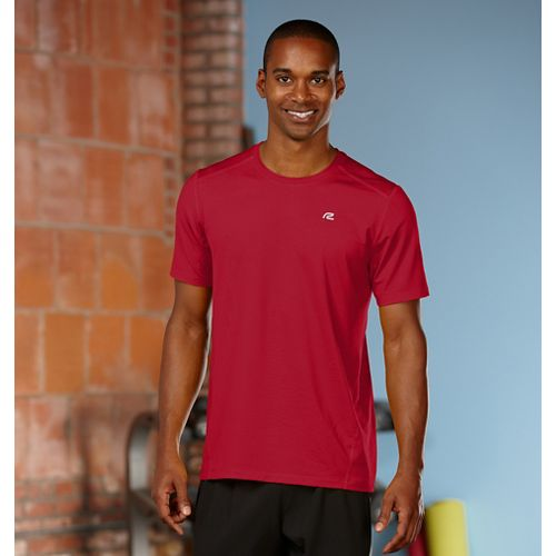 Mens R-Gear Runner's High Short Sleeve Technical Top - Chili Pepper S