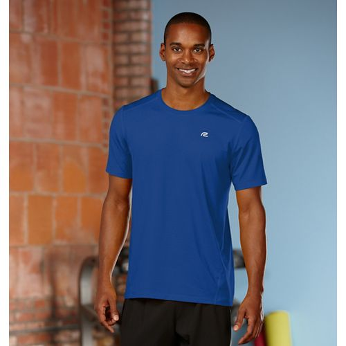 Mens Road Runner Sports Runner's High Short Sleeve Technical Tops - Cobalt L