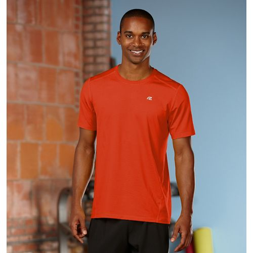 Mens Road Runner Sports Runner's High Short Sleeve Technical Tops - Flame XXL