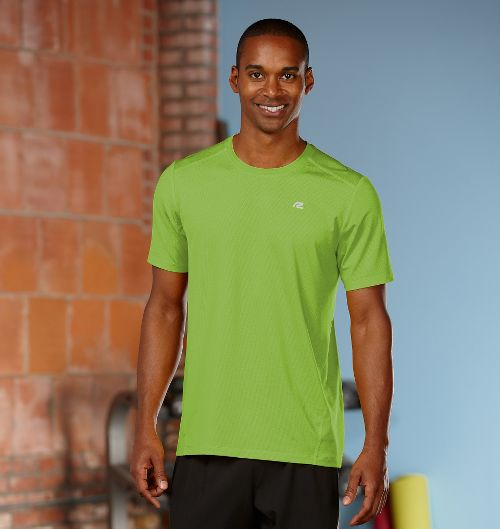 Mens R-Gear Runner's High Short Sleeve Technical Top - Steel M