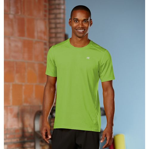 Mens Road Runner Sports Runner's High Short Sleeve Technical Tops - Grass Green L