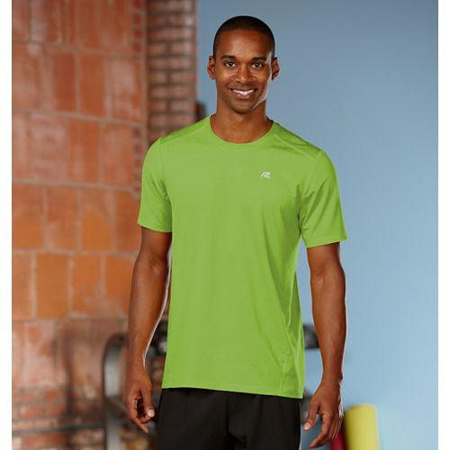 Mens Road Runner Sports Runner's High Short Sleeve Technical Tops - Grass Green XL