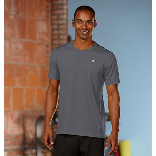Mens R-Gear Runner's High Short Sleeve Technical Top - Steel S