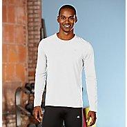 Mens R-Gear Runner's High Long Sleeve No Zip Technical Top - White XXL