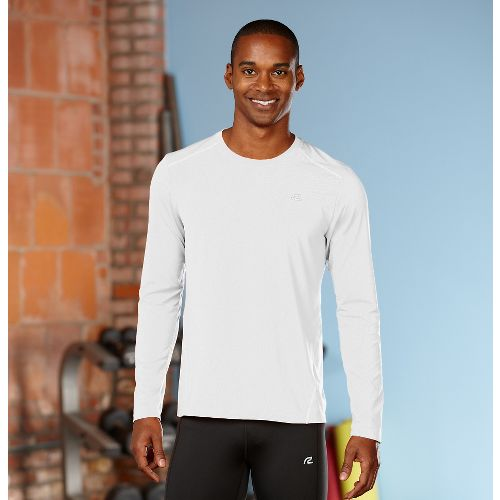 Mens R-Gear Runner's High Long Sleeve No Zip Technical Top - White XXL