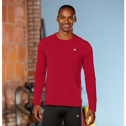 Mens R-Gear Runner's High Long Sleeve No Zip Technical Top - Chili Pepper S