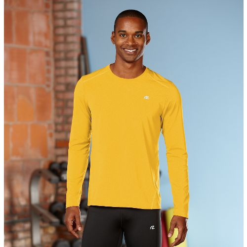 Mens R-Gear Runner's High Long Sleeve No Zip Technical Top - Varsity Gold S