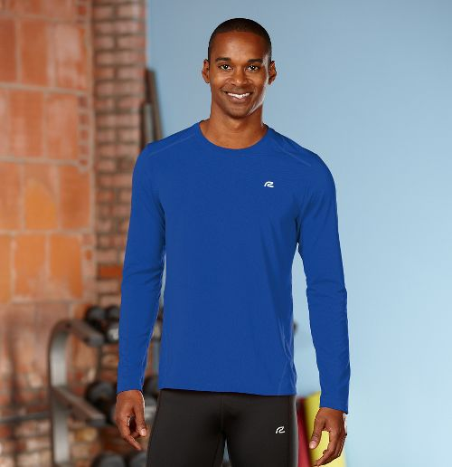 Mens R-Gear Runner's High Long Sleeve No Zip Technical Top - Cobalt S