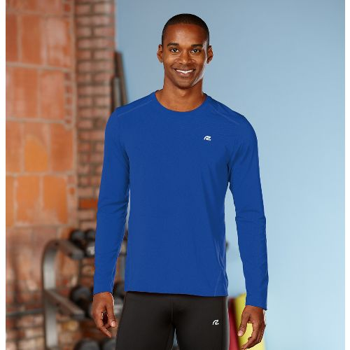 Mens R-Gear Runner's High Long Sleeve No Zip Technical Top - Cobalt XXL