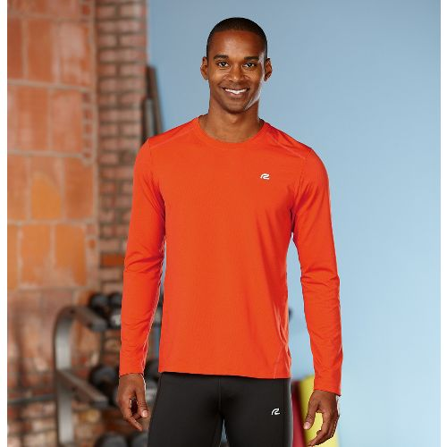 Mens Road Runner Sports Runner's High Long Sleeve No Zip Technical Tops - Flame M ...