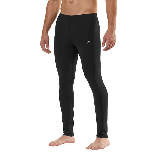 Mens Road Runner Sports SpeedPro Compression Fitted Tights - Black LT