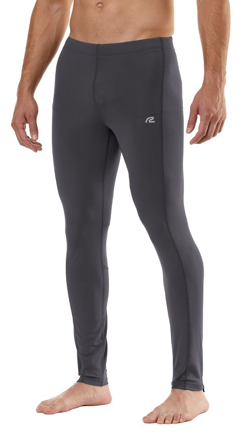 Mens Road Runner Sports SpeedPro Compression Fitted Tights - Charcoal M