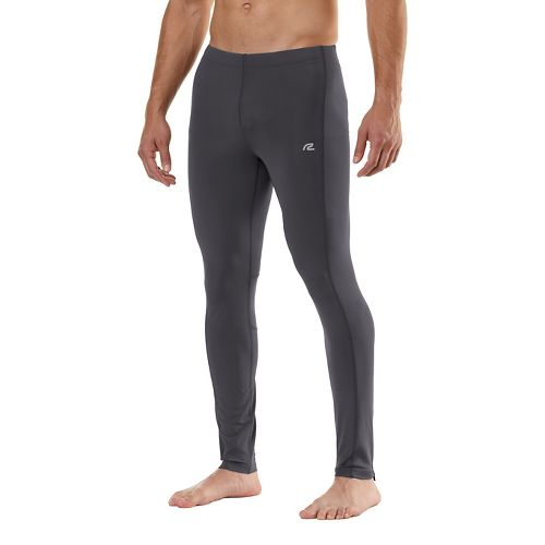 Mens Road Runner Sports Speed Pro Compression Fitted Tights - Charcoal XLT