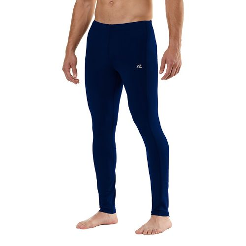 Mens Road Runner Sports SpeedPro Compression Fitted Tights - Midnight Blue L