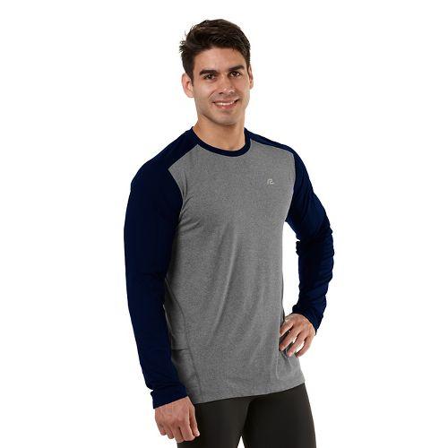Mens Road Runner Sports Base Runner Long Sleeve No Zip Technical Tops - Heather ...