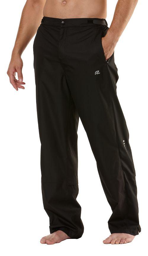 Mens Road Runner Sports Stormchaser Rain Cold weather Pants - Black L