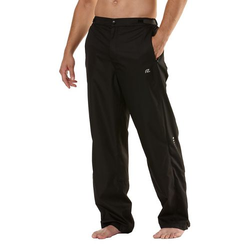 Mens Road Runner Sports Stormchaser Rain Cold weather Pants - Black L