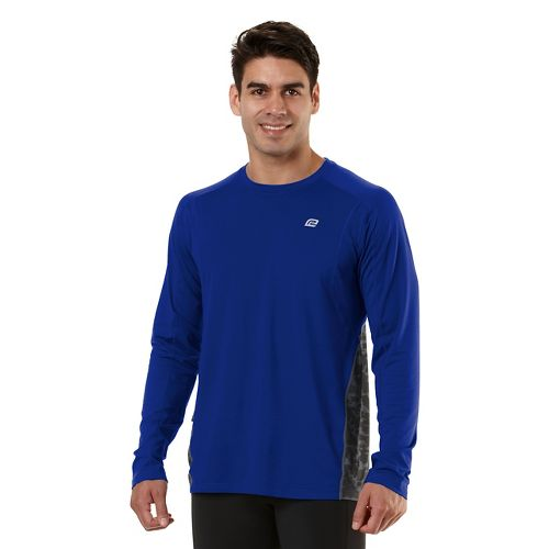 Mens Road Runner Sports Switch It Up Long Sleeve No Zip Technical Tops - Cobalt ...