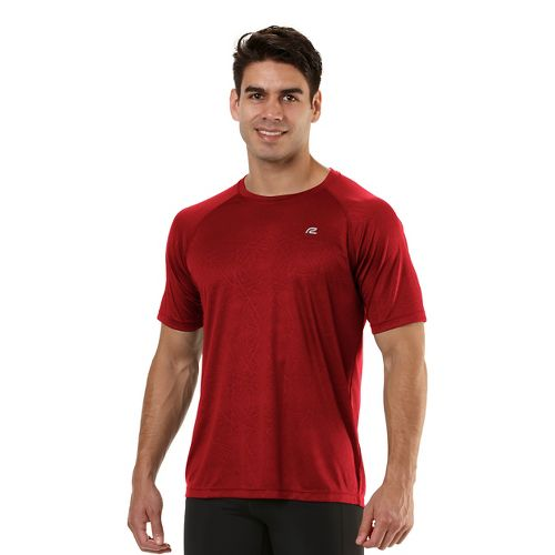 Mens Road Runner Sports Speed Play Crew Short Sleeve Technical Tops - Hotrod Red S