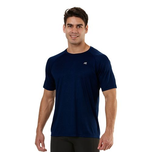 Mens Road Runner Sports Speed Play Crew Short Sleeve Technical Tops - Midnight Blue M ...